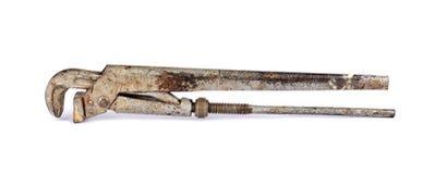 Oude regelbare moersleutel Royalty-vrije Stock Foto's