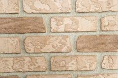 Oude regelmatig ingelegde bakstenen muur royalty-vrije stock foto's