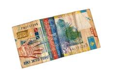 Oude rekenings 200 tenge. Royalty-vrije Stock Foto's