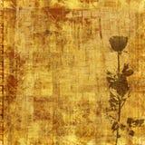 Oude retro affiche met mooie rozen Stock Afbeeldingen