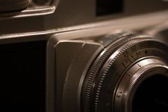 Oude retro analoge camera royalty-vrije stock afbeelding