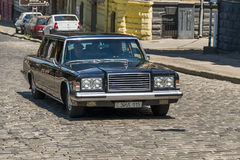 Oude retro auto VOLVO die AMAZONIË 121 participatie in rasleeuw nemen Stock Foto's