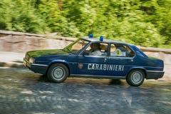 Oude retro auto VOLVO die AMAZONIË 121 participatie in rasleeuw nemen Stock Afbeeldingen