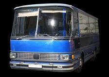 Oude retro blauwe bus Stock Foto's