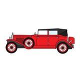Oude retro convertibele auto stock illustratie