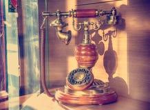 Oude retro-gestileerde telefoon 1920 Royalty-vrije Stock Foto