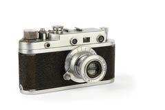 Oude retro 35mm filmcamera Royalty-vrije Stock Foto's