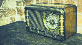 Oude retro radio Stock Foto