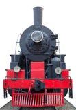 Oude (retro) stoommotor (locomotief). Stock Foto's