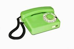 Oude retro telefoon met roterende wijzerplaat royalty-vrije stock afbeelding
