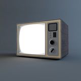 Oude retro TV Royalty-vrije Stock Afbeelding