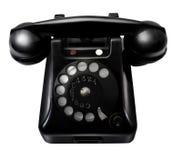 Oude retro zwarte telefoon stock afbeeldingen
