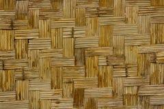 Oude rieten textuurachtergrond Stock Foto's