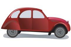 Oude rode auto stock illustratie