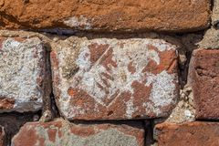 Oude rode baksteen 19de eeuw Royalty-vrije Stock Fotografie