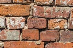 Oude rode baksteen 19de eeuw Stock Fotografie
