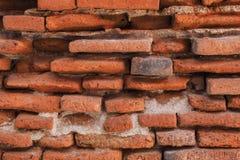 Oude rode bakstenen muur Royalty-vrije Stock Foto
