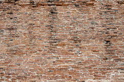Oude rode bakstenen muur. Stock Foto's