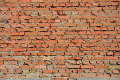 Oude rode bakstenen muur Stock Foto's