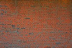 Oude rode bakstenen muur Stock Foto