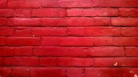 Oude rode bakstenen muur Stock Fotografie