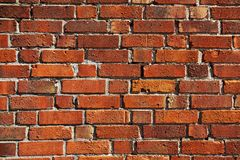 Oude rode bakstenen muur als textuur royalty-vrije stock fotografie