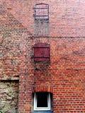 Oude rode bakstenen muur van het huis Royalty-vrije Stock Foto