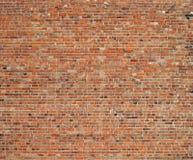 Oude rode bakstenen muurachtergrond Stock Afbeelding