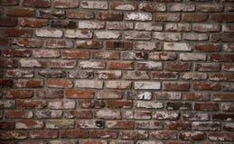 Oude rode bakstenen muurachtergrond Stock Fotografie