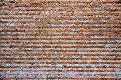 Oude rode bakstenen muurachtergrond Stock Afbeeldingen