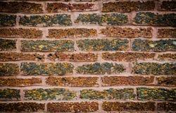 Oude rode bakstenen muurtextuur Stock Afbeeldingen