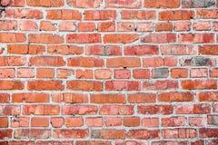Oude rode bakstenen muurtextuur stock foto