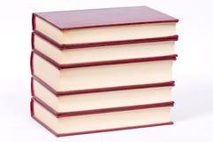 Oude rode boeken Stock Afbeeldingen
