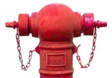 Oude rode brandkraan Stock Fotografie
