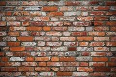 Oude rode brickwalltextuur royalty-vrije stock afbeeldingen