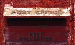 Oude rode brievenbus Stock Foto