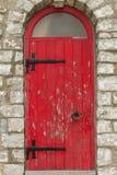 Oude rode deur Royalty-vrije Stock Foto's
