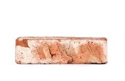 Oude rode geïsoleerde baksteen Stock Foto