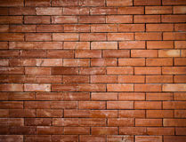 Oude rode geweven bakstenen muur Stock Foto