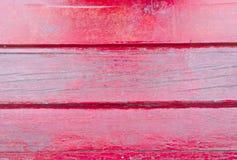 Oude rode houten plankentextuur De achtergrond van de boom batten Royalty-vrije Stock Fotografie