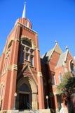 Oude rode kerk Stock Afbeeldingen