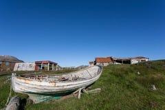 Oude roeiboot Royalty-vrije Stock Afbeelding