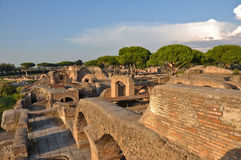Oude Roemeense stad - Ostia Antica Stock Foto