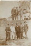 Oude Roemeense Uitstekende Zwart-witte Beelden van het Verleden Stock Fotografie