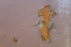 Oude roestige achtergrond Beschadigd staal Royalty-vrije Stock Foto
