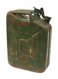 Oude roestige benzinejerrycan Stock Afbeelding