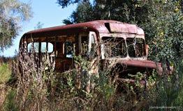Oude roestige bus Royalty-vrije Stock Fotografie