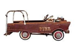 Oude roestige doorstane Brandvrachtwagen Stock Foto