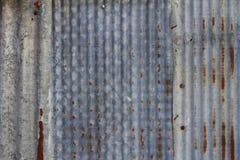 Oude roestige gegalvaniseerde achtergrond Royalty-vrije Stock Foto's