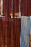 Oude roestige gegalvaniseerde achtergrond Royalty-vrije Stock Afbeeldingen